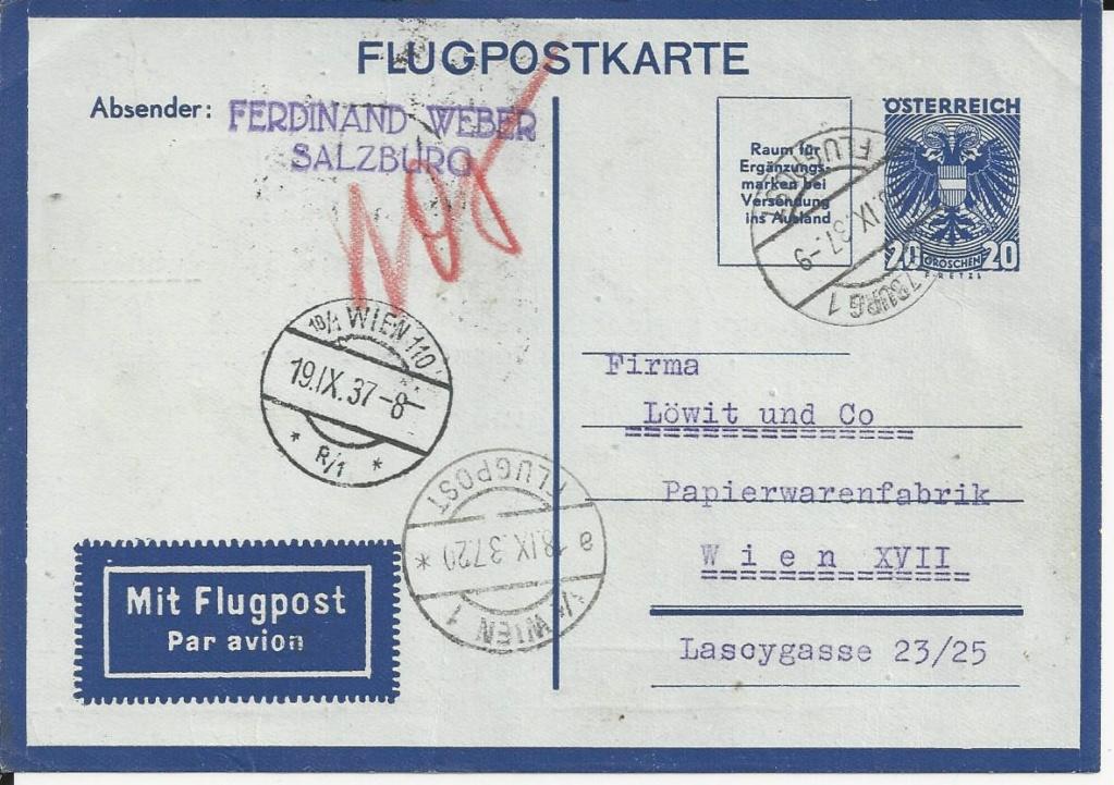 Flugpostkarten Erste Republik Bild_287