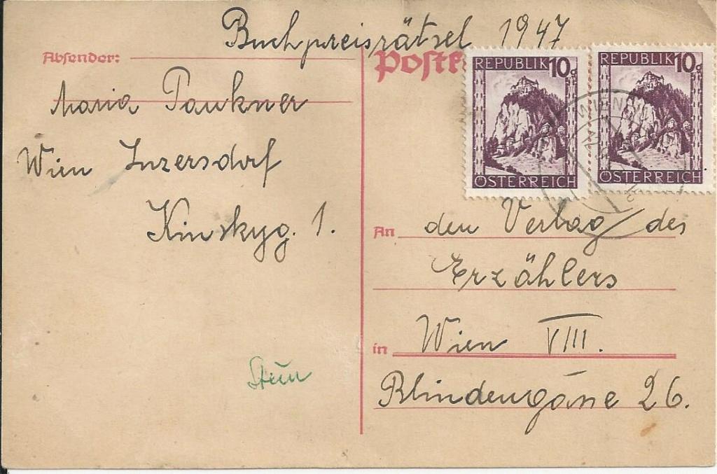 Notmaßnahmen und Provisorien bei Postkarten 1945-1948 Bild_344
