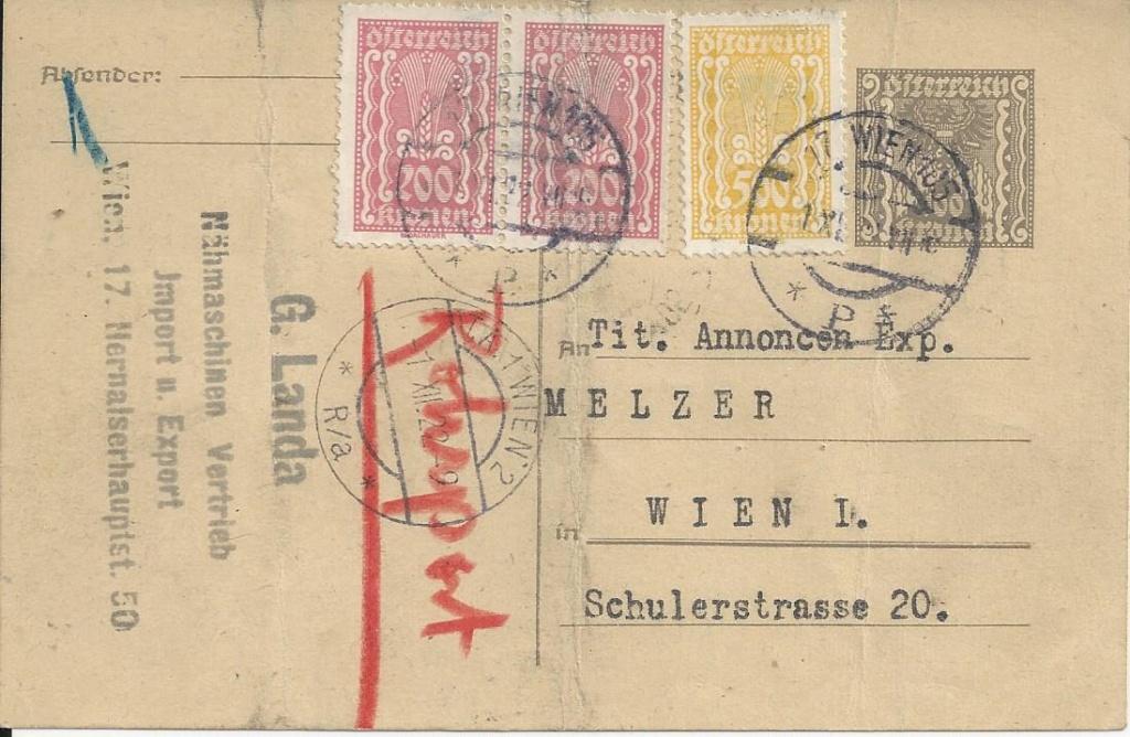 """Postkartenserie """"Quadratischer Wertstempel - Wertziffer im Dreieck"""" 1922-24 - Seite 5 Bild_455"""