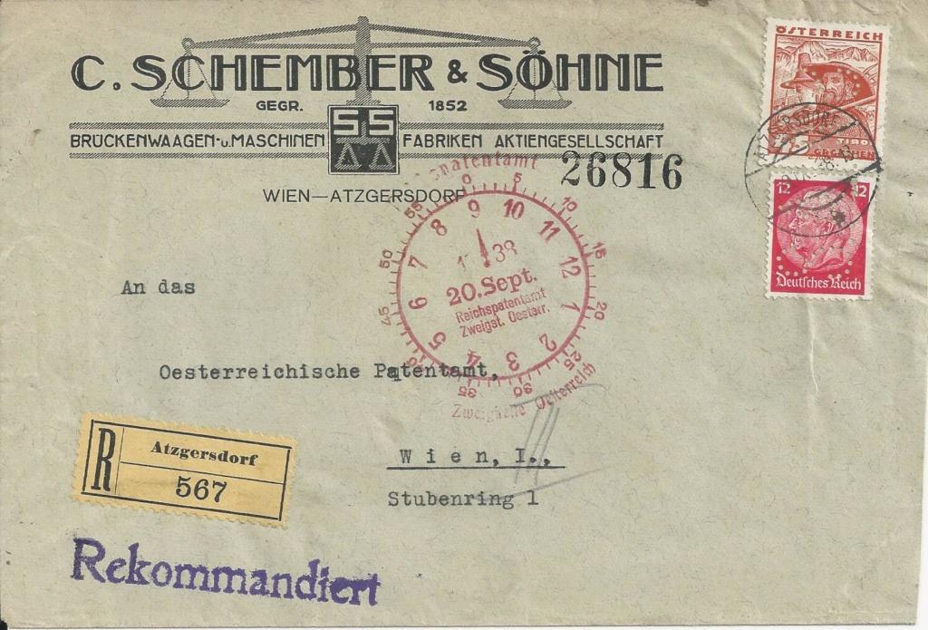 Lochung auf Briefmarken - Perfin - Österreich Bild_468