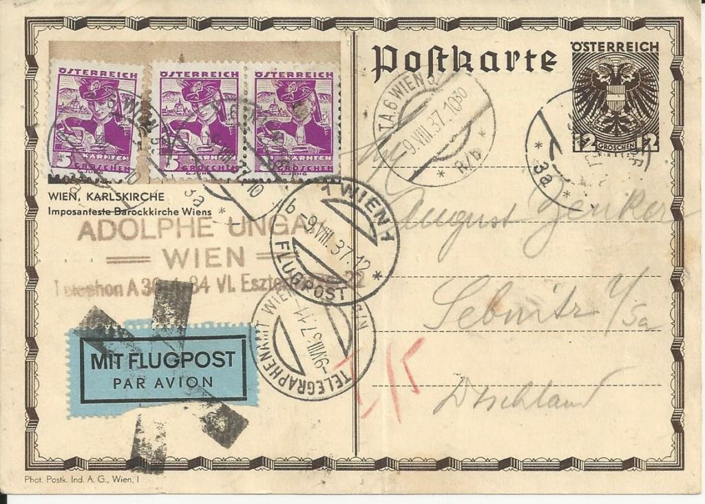 Bedarfspost Ganzsachen Österreich 1925-1938 - Seite 2 Bild_487