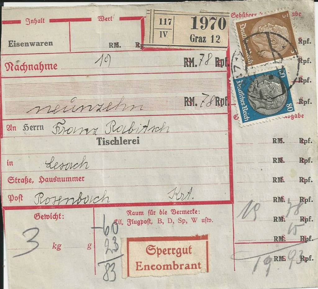 Österreich im III. Reich (Ostmark) Belege - Seite 22 Bild_689