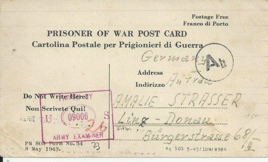 Kriegsgefangenenpost II. Weltkrieg (Österreich) Bild_750