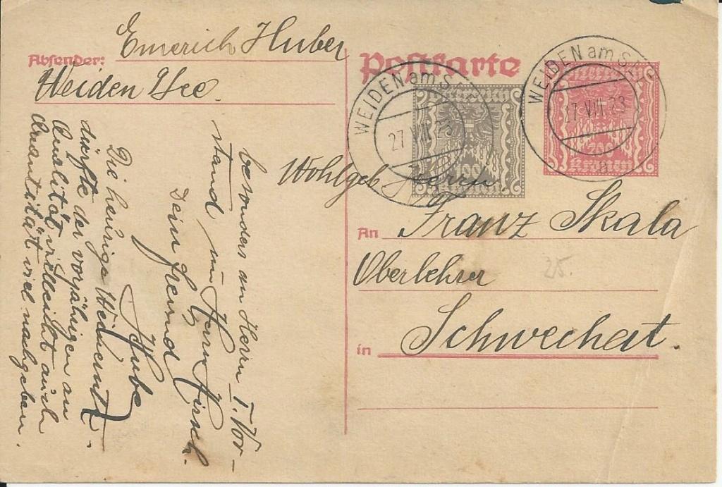 """Postkartenserie """"Quadratischer Wertstempel - Wertziffer im Dreieck"""" 1922-24 - Seite 5 Bild_762"""