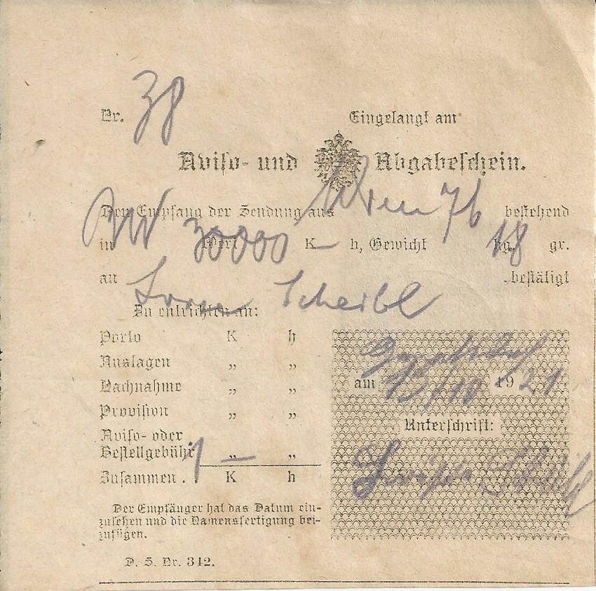 Inflation in Österreich - Belege - 1918 bis 1925 - Seite 26 Bild_782