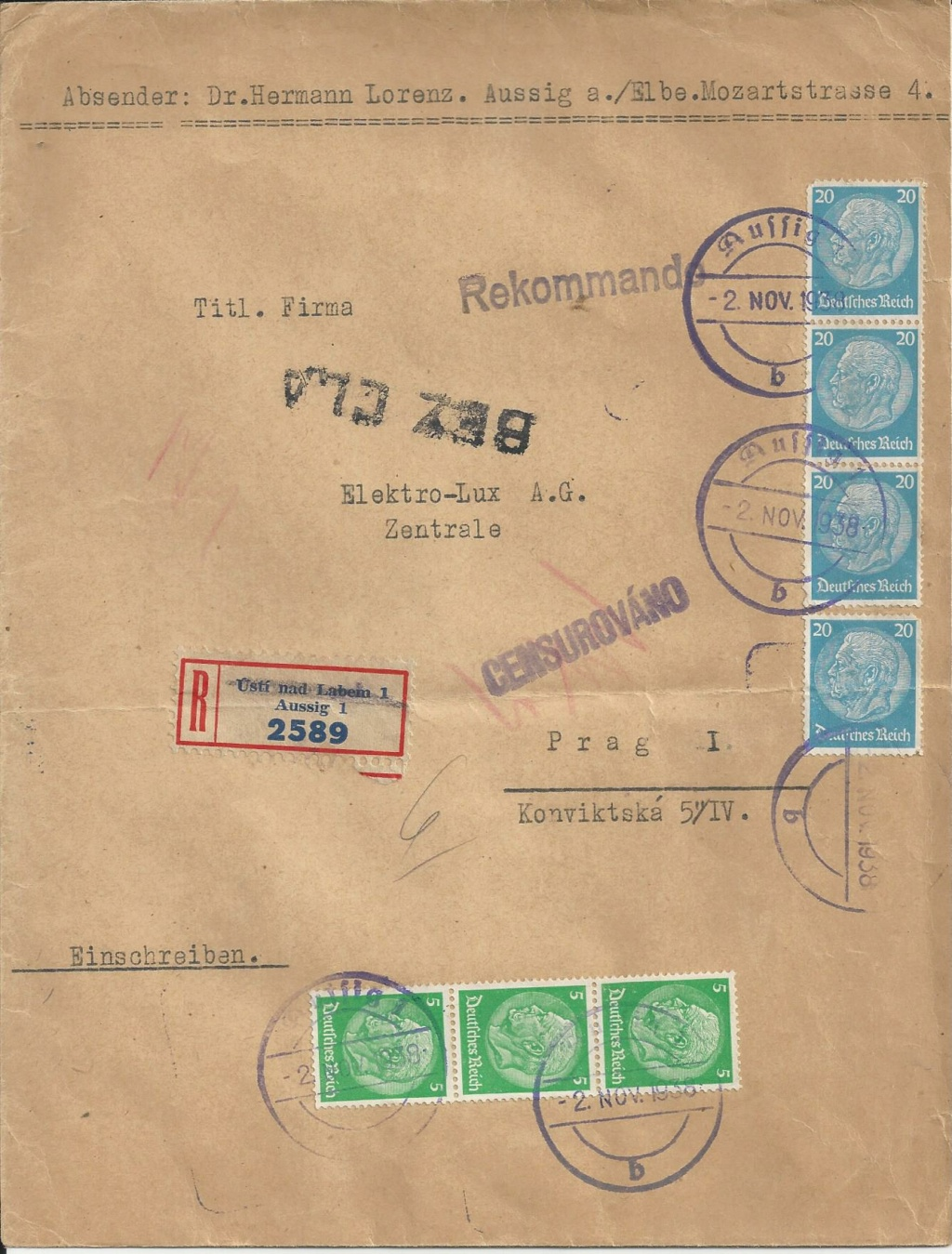 Sudetenland Brief, 1938, Bild_826