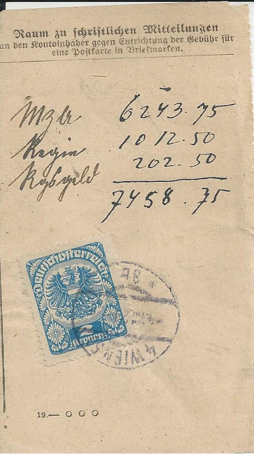 Inflation in Österreich - Belege - 1918 bis 1925 - Seite 26 Bild_830