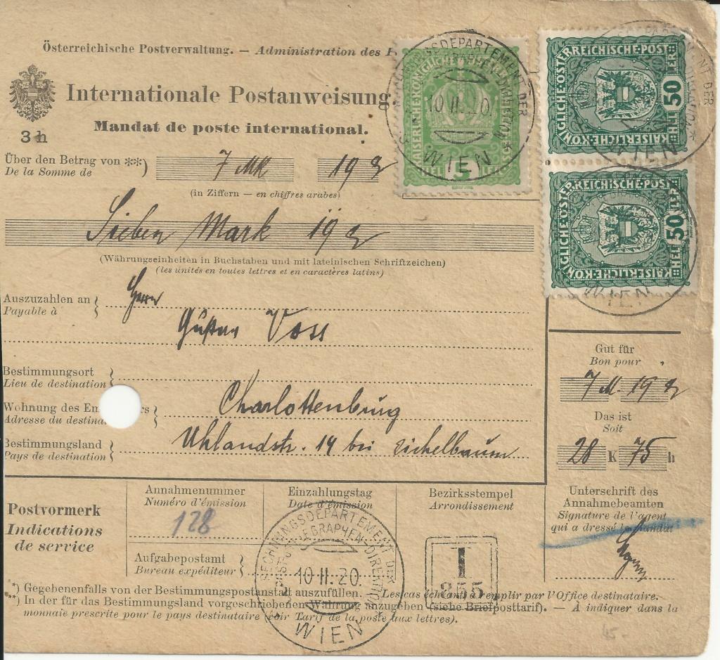 Inflation in Österreich - Belege - 1918 bis 1925 - Seite 26 Bild_833