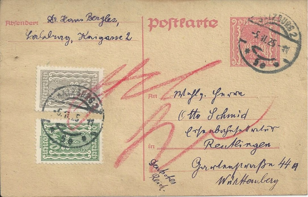 """Postkartenserie """"Quadratischer Wertstempel - Wertziffer im Dreieck"""" 1922-24 - Seite 5 Bild_884"""