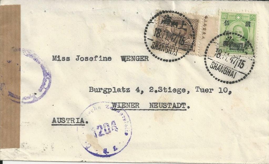 Post von seltenen Länder nach Österreich 1946 bis 1953 Bild_953