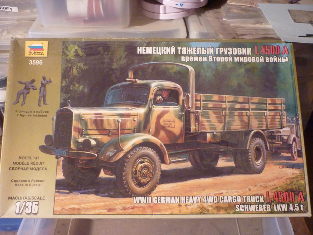 WWII german heavy 4WD cargo truck L4500 A schwerer LKW 4.5T Echelle 1:35 marque ZVEZDA  P1110016