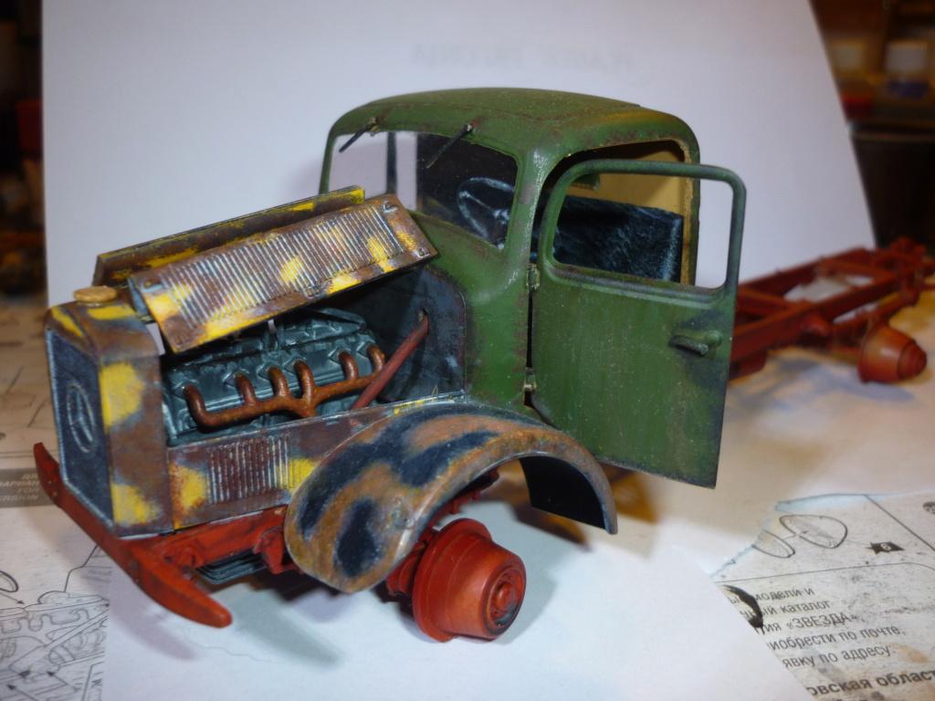 WWII german heavy 4WD cargo truck L4500 A schwerer LKW 4.5T Echelle 1:35 marque ZVEZDA  - Page 3 P1110534