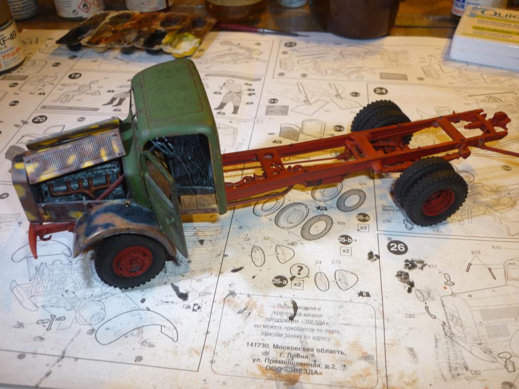 WWII german heavy 4WD cargo truck L4500 A schwerer LKW 4.5T Echelle 1:35 marque ZVEZDA  - Page 3 P1110536