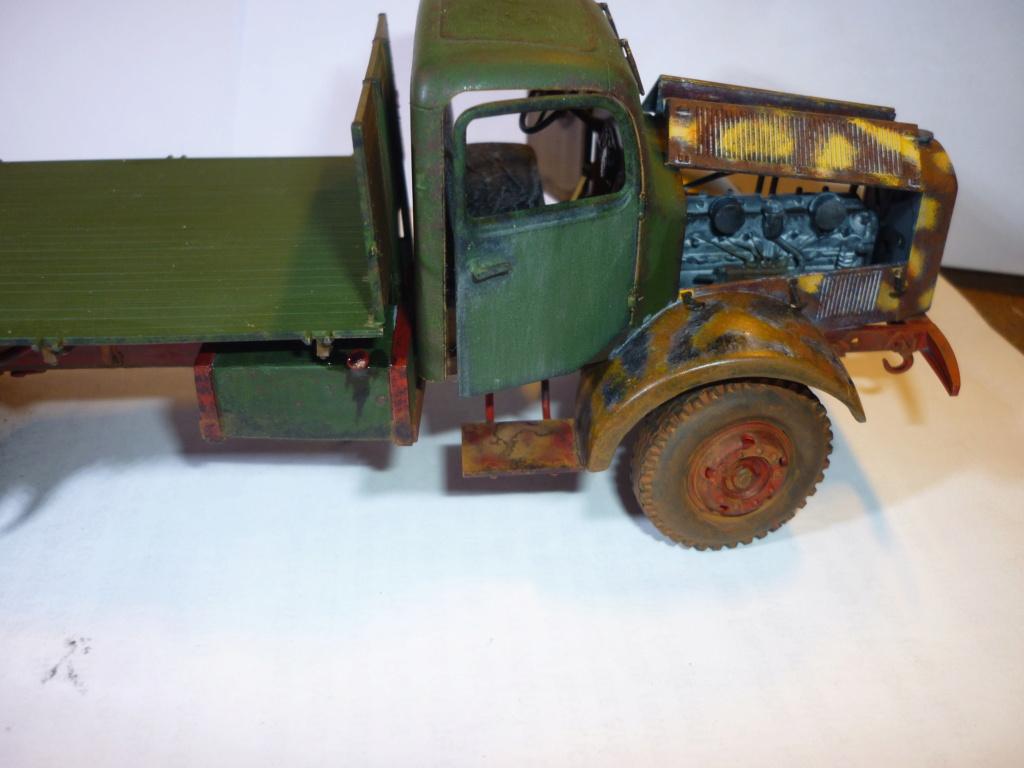 WWII german heavy 4WD cargo truck L4500 A schwerer LKW 4.5T Echelle 1:35 marque ZVEZDA  - Page 4 P1110615