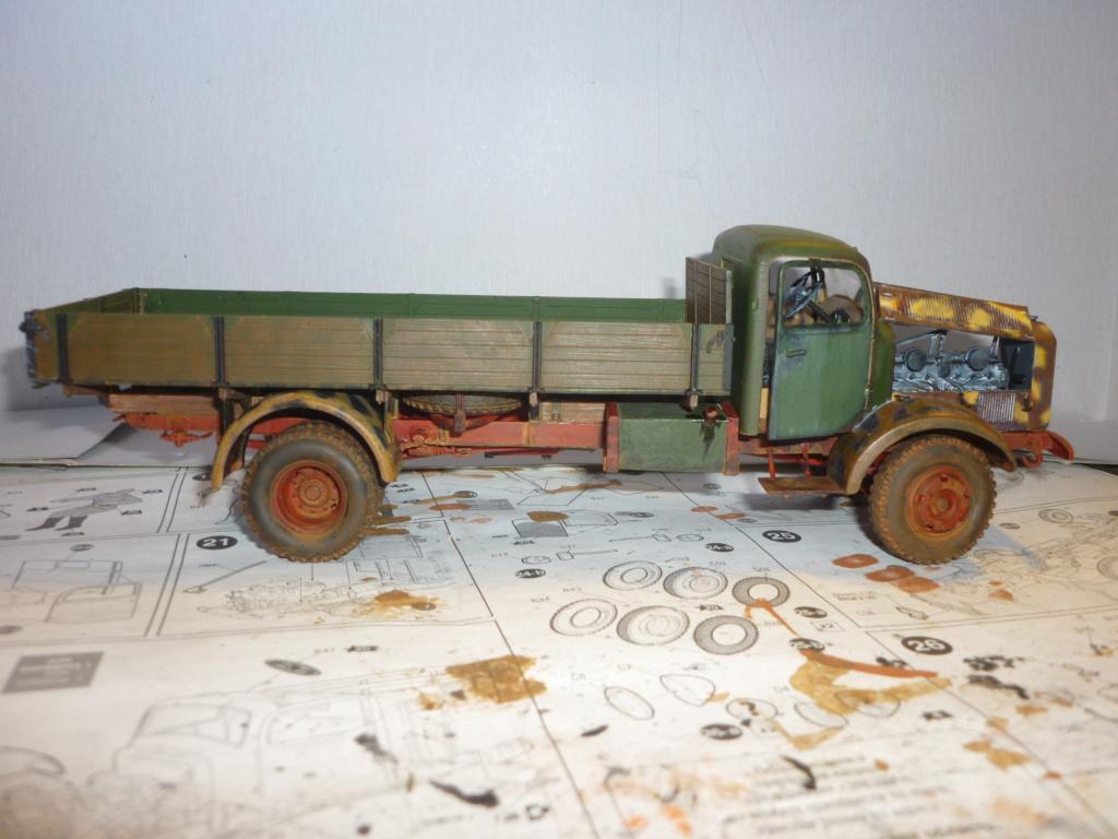 WWII german heavy 4WD cargo truck L4500 A schwerer LKW 4.5T Echelle 1:35 marque ZVEZDA  - Page 4 P1110619