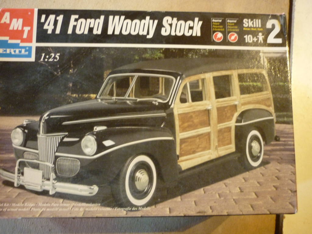 """"""" RAT ROD """" '41 Ford Woody Stock ; AMT ; 1/25 P1110710"""