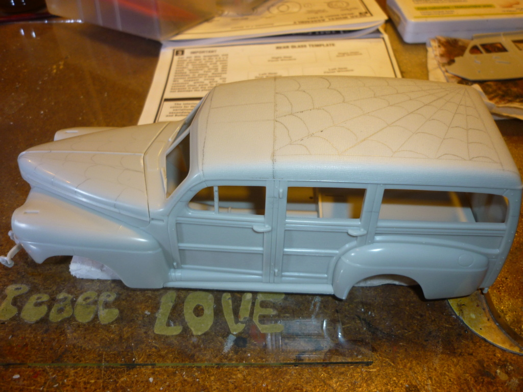 """"""" RAT ROD """" '41 Ford Woody Stock ; AMT ; 1/25 P1110713"""