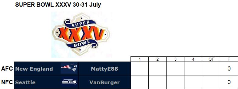 Super Bowl XXXV, 30-31 July Sbg10