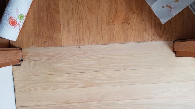 Pose d'un parquet massif en robinier...dans une salle de bain sur plancher bois. - Page 2 20210419