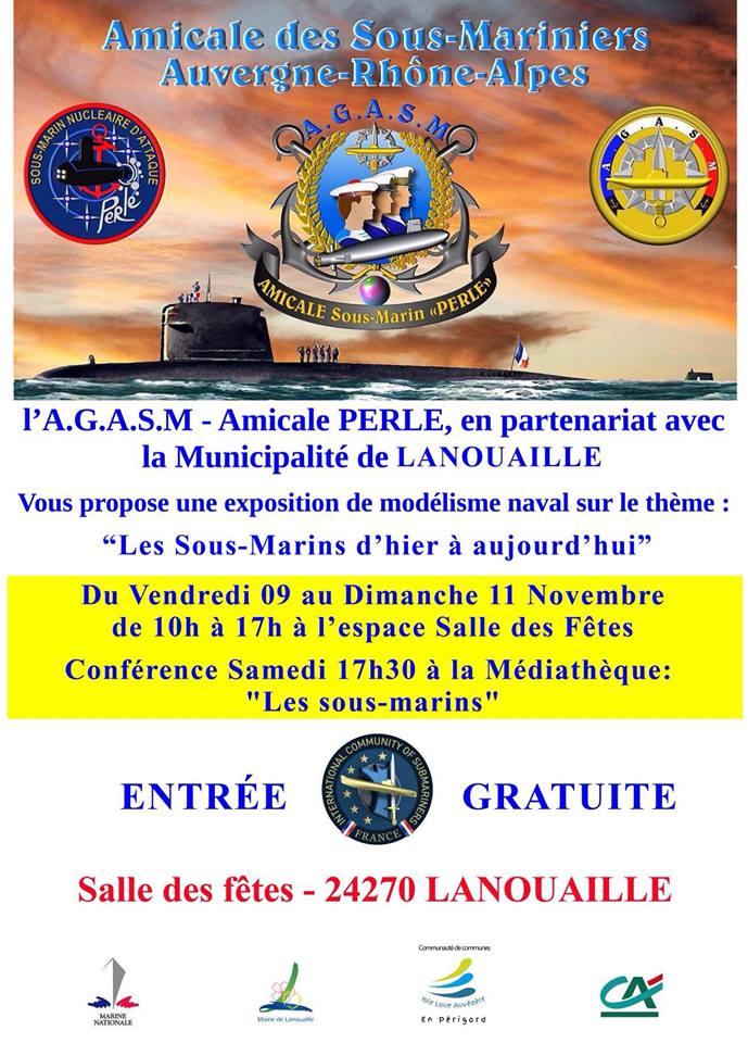 [ Loisirs autres que sports ] AGASM Amicale Perle - Exposition de maquettes de sous-marins à Lanouaille (24) 45123510