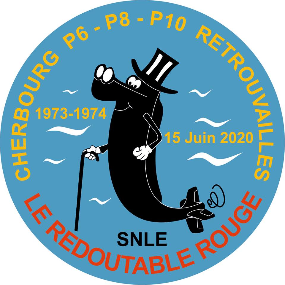 [ Logos - Tapes - Insignes ] Patch SNLE Le Redoutable Rouge Red-re13