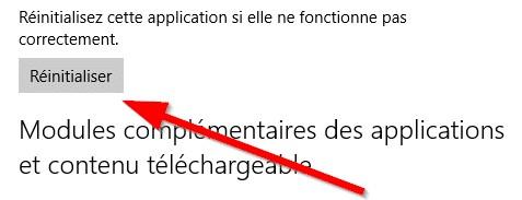 Réinitialisez une application Windows 10 dysfonctionnelle Appliw10