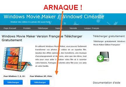 Installez Windows Movie Maker sur Windows 10 Arnaqu10
