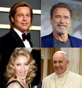 Brad Pitt, Schwarzenegger, Madonna et le Pape - Énigme Qui suis-je ? Brad_p10
