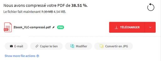 Réduire le poids d'un PDF Pdf410
