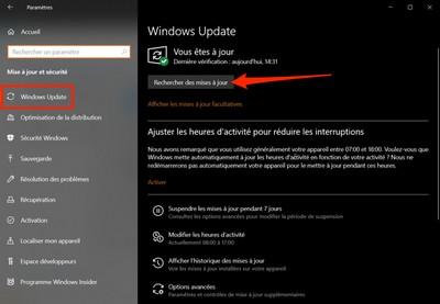 Mise à jour Windows 10 21H1 Window12