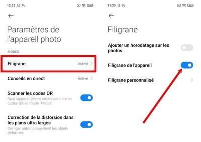 Xiaomi : Supprimez les filigranes sur vos photos Xiaomi12