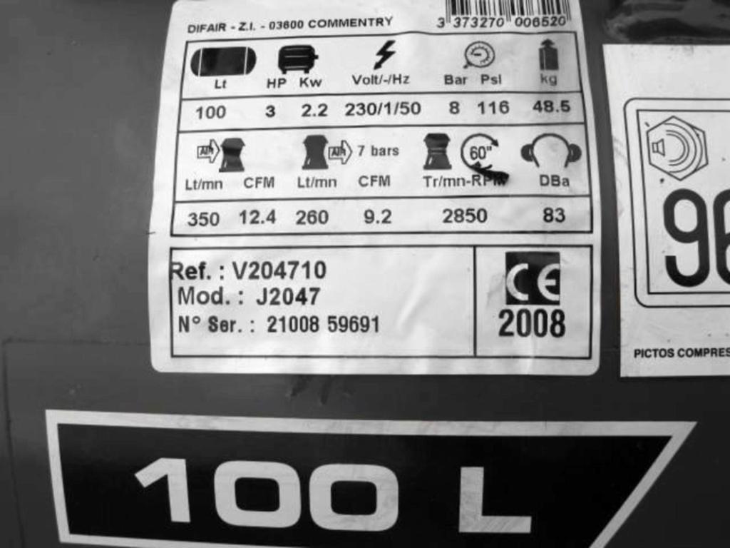 [RESOLU] Condo grillé sur un compresseur Quartz 100L 3CV Screen10