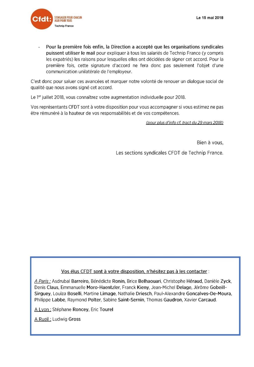 (2018-05-15) - COMMUNICATION SUITE A LA SIGNATURE DE L'ACCORD SUR LES « SALAIRES EFFECTIFS » POUR L'ANNEE 2018 Commun11