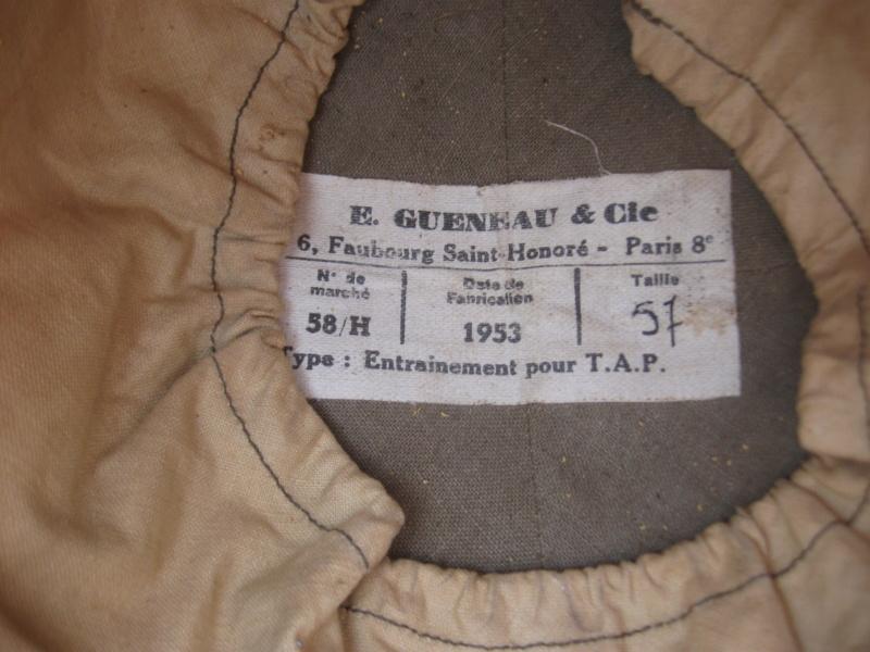 *Casque Gueneau Type 202 pour l'entraînement au saut des parachutistes 172_410