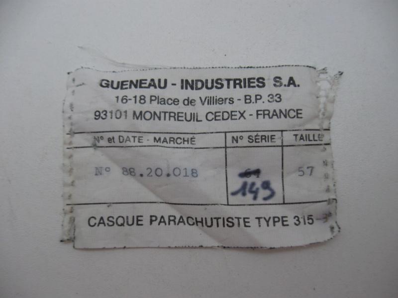 *Casque Gueneau Type 202 pour l'entraînement au saut des parachutistes 217_410