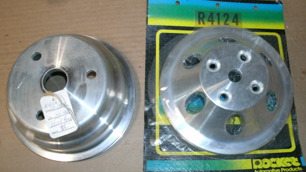 Aluminum Crank AND water pump Pulleys Single Groove Brand New. Pulley11