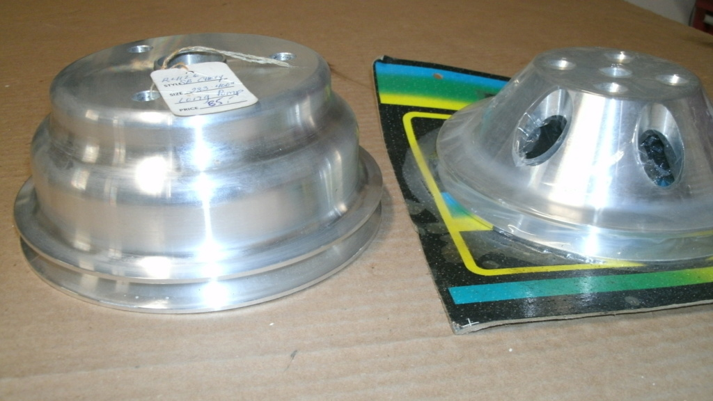 Aluminum Crank AND water pump Pulleys Single Groove Brand New. Pulley13
