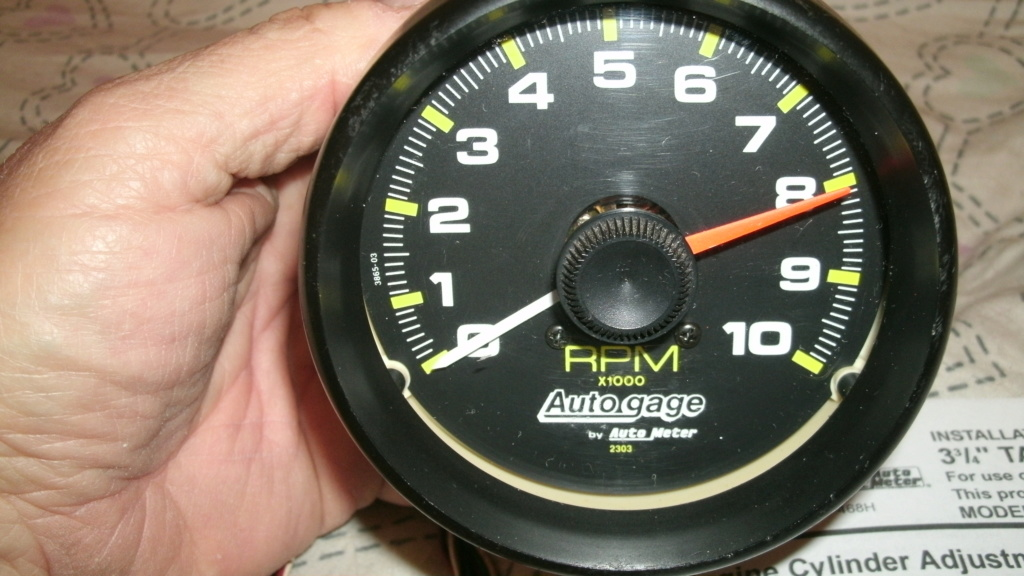 """Autogage 3 3/4"""" Tach with instructions. Tach_210"""