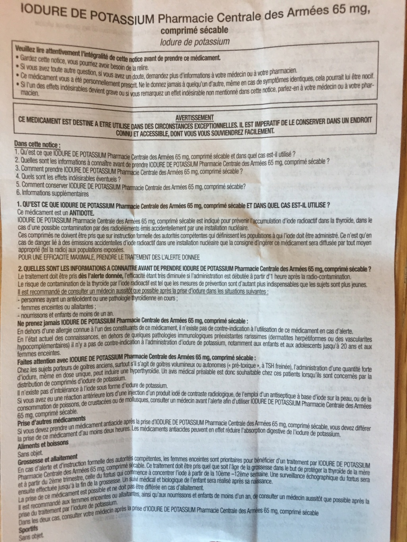 [Stock + Fabrication] Iodure de potassium (risque nucléaire) comprimés d'iode - Page 6 4cec4210