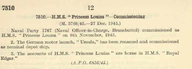 Naval Party 1767 HMS  Princess Louisa 751011