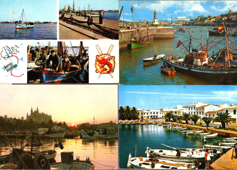 TEMATICA - Puertos pesqueros de España a través de las postales Barcos11