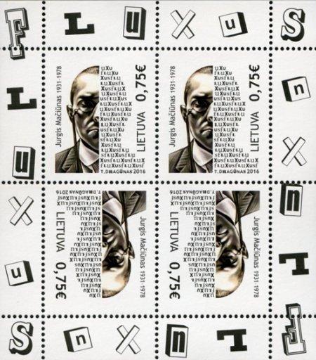 LITUANIA - Sello dedicado a George Maciunas Creador del movimiento FLUXUS George10