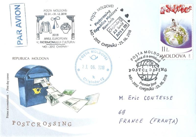 MINICOLECCIÓN - Sellos dedicados a Postcrossing Moldav10