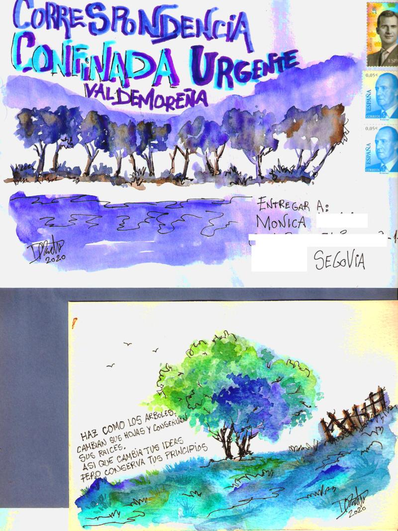 Sobres ilustrados a mano, una temática casi como otra cualquiera. - Página 8 Monica10