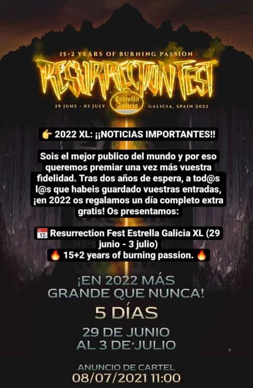 Resurrection Fest Estrella Galicia 2021. (2 - 5 Junio) System of a Down, Deftones, KoRn - Página 18 Cartel46