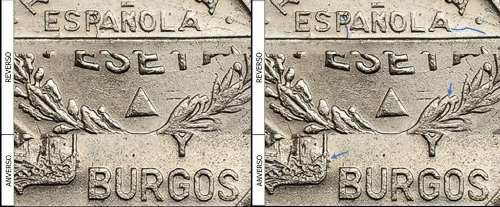 1 Peseta 1937. Consejo Santander Palencia y Burgos. PRUEBA 1112