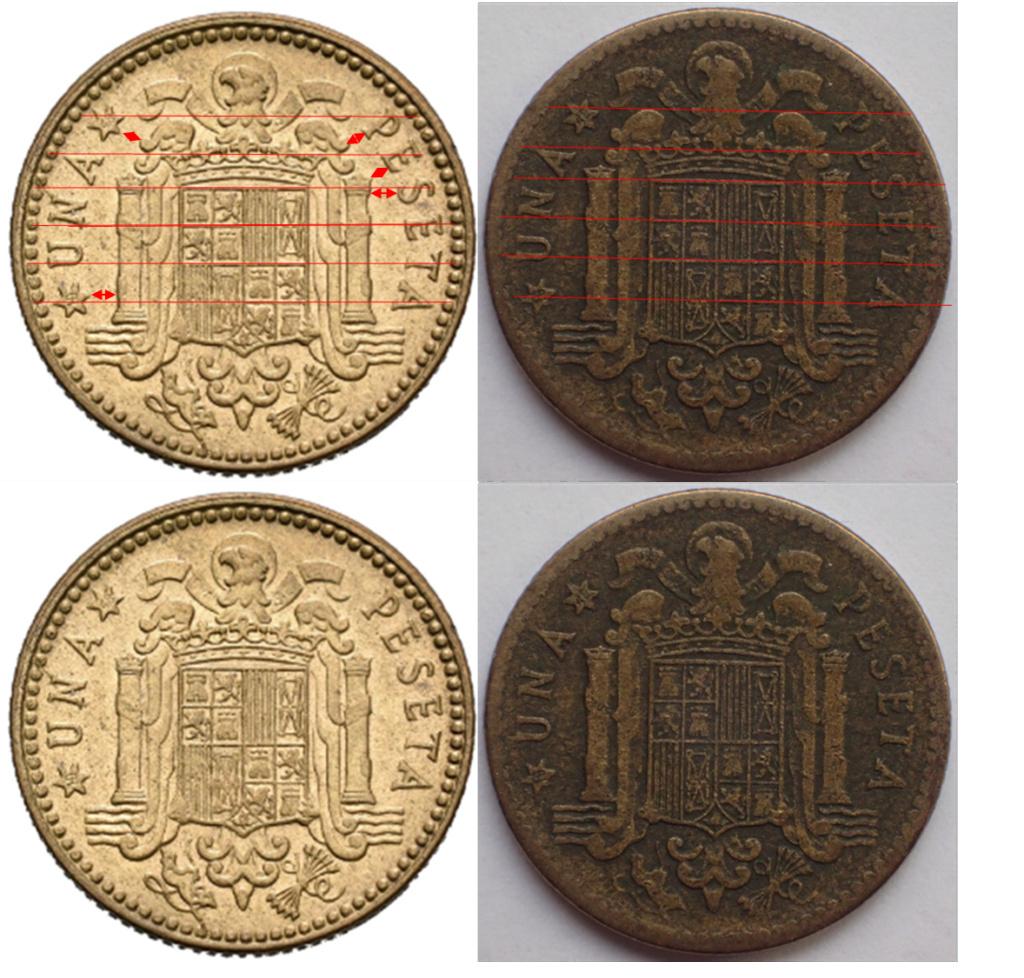 1 Peseta 1947*19-48. Estado Español. EL REVERSO. 123