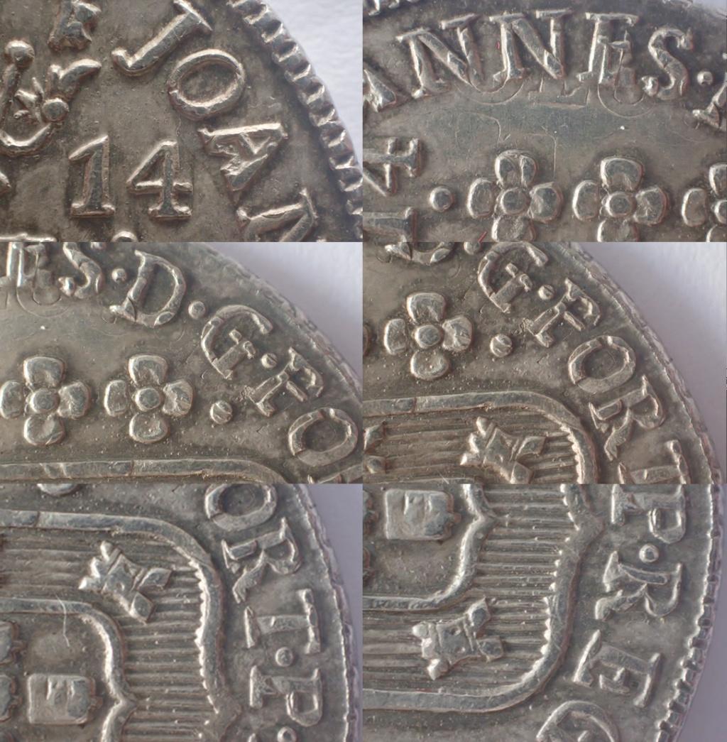 960 Reis 1814. Joao VI. Brasil. 210