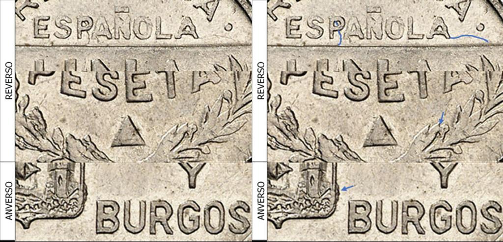 1 Peseta 1937. Consejo Santander Palencia y Burgos. PRUEBA 2210