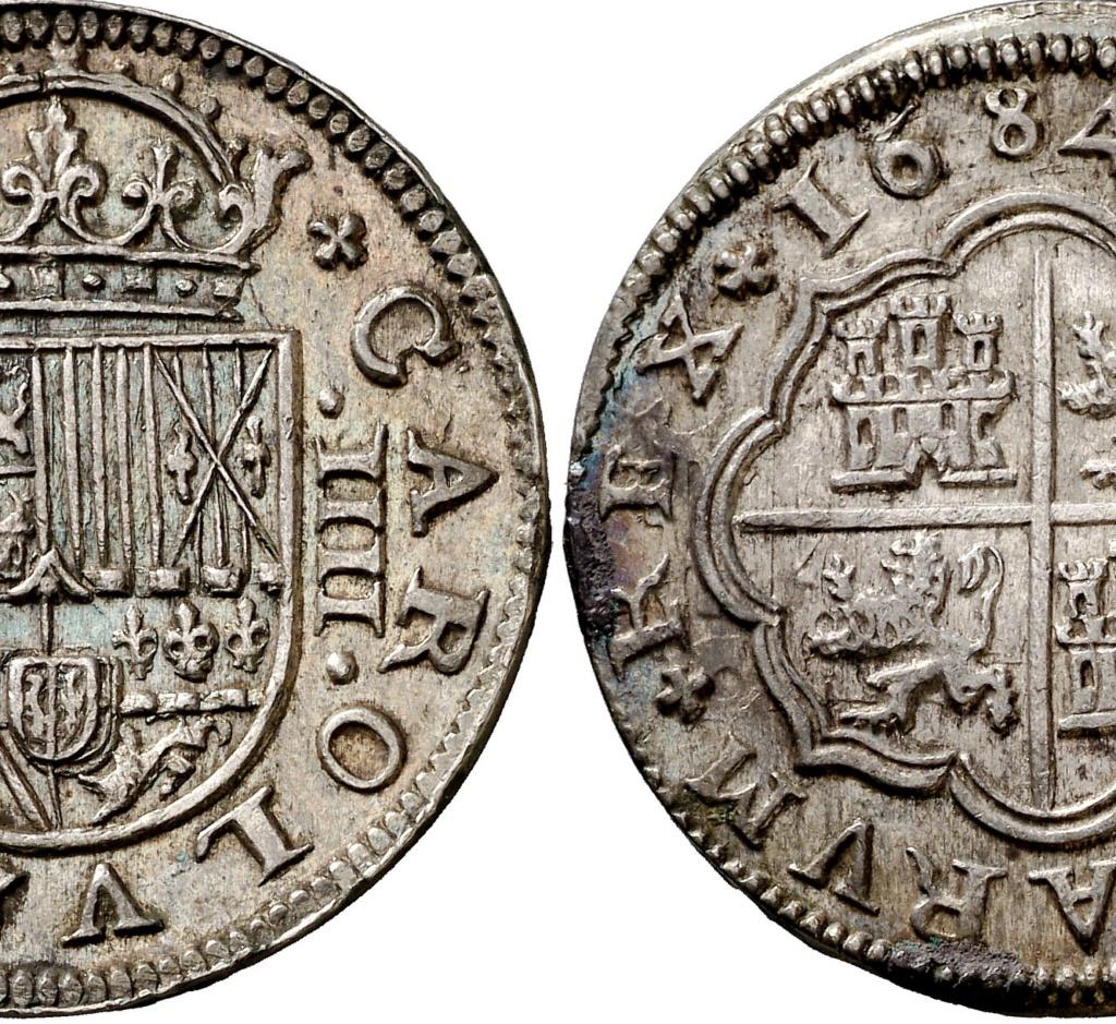 2 reales 1717 Segovia, Felipe V. Colección Manuela Etcheverría 229510